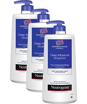 Hot Neutrogena Deep Moisture Bodylotion - Crema hidratante corporal/3x 400ml antes de compra