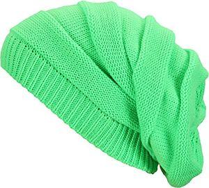 Angebote für -swindon beanie strickmütze mit wunderschönem gleichfarbig abgesetzten strickmuster damen herren unisex wintermütze neongrün