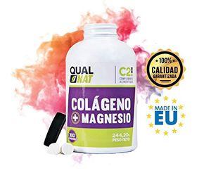 Colágeno con magnesio para huesos y articulaciones - Colágeno hidrolizado con calcio, silicio y vitaminas C y D para mejorar la elasticidad y salud de la piel - 300 comprimidos Mejor compra