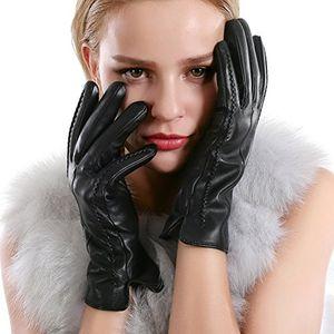 deals for - vemolla damen winter handschuhe echt leder gefüttert lederhandschuhe schwarz size 7