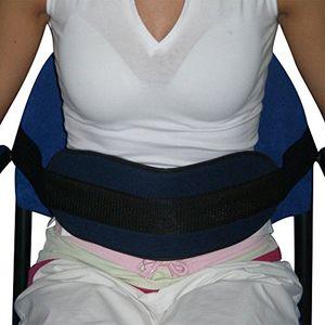 Hot Cinturón de sujeción para sillón o silla de ruedas | Cinturón abdominal que previene de posibles caídas o que el paciente se ladee | Sistema de cierre con hebillas | Máxima sujeción y seguridad | Tejido de foam muy cómodo y a la vez resistente | Medidas: se adapta a cualquier sillón o silla de ruedas ofertas de hoy