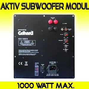 Hot gelhard gxv1000s aktiv subwoofer einbau modul 1000watt max 500watt rms