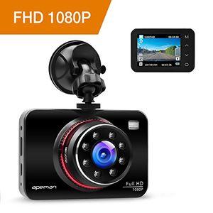 Angebote für -apeman dashcam full hd autokamera 1080p dvr mit 170° weitwinkelobjektiv infrarotfunktion wdr bewegungserkennung parkmonitor loop aufnahme nachtsicht und g sensor