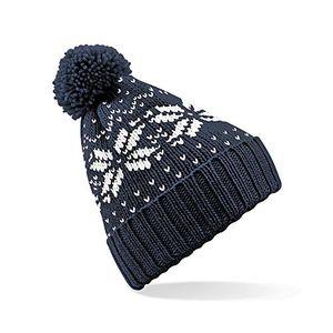 Cheap fair isle snowstar beanie beechfield klassisch gemusterte wintermütze einheitsgrößefrench navywhite