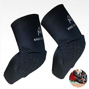 ofertas para - rodilleras esasam panal rodilleras manga larga pierna compresión protector gear crashproof antislip baloncesto collision avoidance rodillera negro