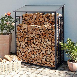 deals for - beckmann khlg kaminholz lager größe 1 128 x 69 x 162 cm anthrazitgrau