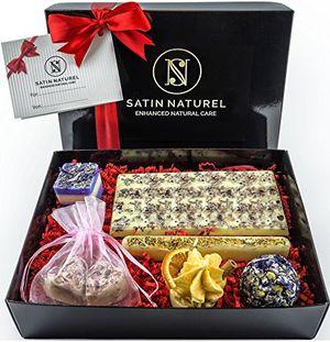 Bombones de jabón orgánicos - pack de regalo de 7 productos SatinNaturel con manteca de karité veganos hechos a mano opinión