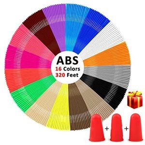 Review for 3d stift filament kungfuren abs filament 175mm insgesamt 320 fuß für einen 3d stift 16 farben je 20 fuß