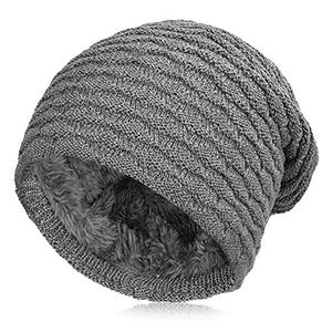 Angebote für -vbiger beanie uniesex mütze strickmütze skimütze beanie mütze warme mütze winter mütze mit fleecefutter