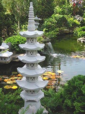 Top pagode 5 stöckig japanische steinlaterne