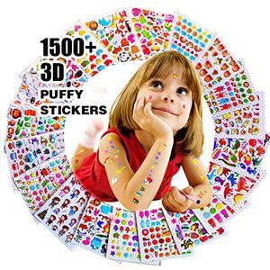 Hot aufkleber für kinder 1500 20 verschiedene blätter 3d geschwollene aufkleber scrapbooking bullet zeitschriften aufkleber für erwachsene einschließlich tiere
