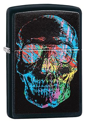 ofertas para - zippo x ray black matte skull lighter mechero color negro mate talla uk 6x4