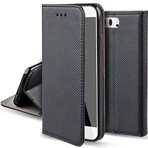 Cheap moozy huawei p10 hülle flip case schwarz dünne magnetische bookstyle klapphülle mit standfunktion und silikon handyhalter