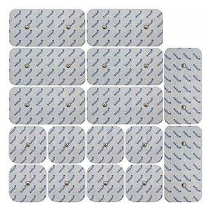 Reseña 16 electrodos para Compex TENS EMS (8*100x50mm + 8*50x50mm). Almohadillas conexión de botón antes de compra