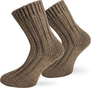 Angebote für -normani 2 paar sehr warme alpaka wollsocken für damen und herrenwie handgestrickt waschmaschienenfest beige größe 43 46