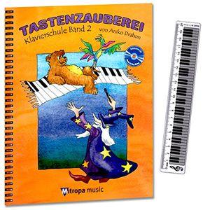 deals for - tastenzauberei band 2 klavierschule von aniko drabon schule für einzel und gruppenunterricht in deutscher sprache cd zum üben und mitspielen 7 lustige smiley sticker lineal mit klaviatur 20cm