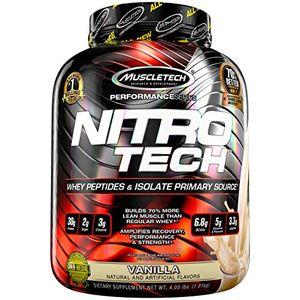 Barato Muscletech Suplemento para Deportistas Nitro Tech Performance Series, Sabor de Vainilla - 1800 gr Con Descuento
