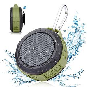 bluetooth lautsprecher tragbar dusche lautsprecherhcman wasserdicht outdoor speaker mit eingebautem mikrofon für iphone ipad samsung nexus android geräte grün