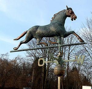 deals for - dekowelten luxus wetterpferd wetterhahn wetterfahne pferd kupfer sehr hochwertig ca10kg 3d optik