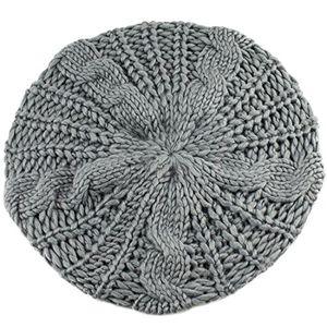 Top beanie slouch strick mütze strickmütze wintermütze für damen herren wolle grau