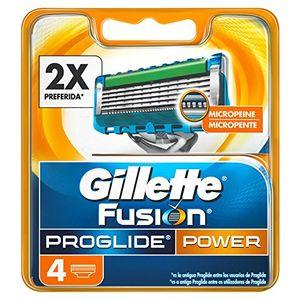 Gillette Fusion ProGlide Power - Cuchillas de recambio para maquinilla de afeitar, 4 unidades comparación