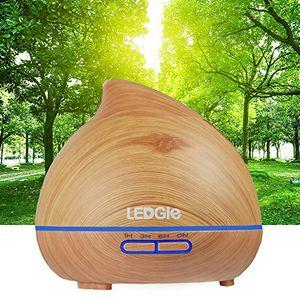 Review for LEDGLE 300ml Humidificador Ultrasónico Aromaterapia, Difusor de Aceites Esenciales con LED de 7 Colores y 4 Configuraciones de Tiempo, niebla ajustable, Perfecto para Hogar, Oficina, Dormitorio y Baño opinión