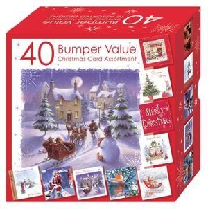 Angebote für -weihnachtskarten set 10 verschiedene motive 40 stück