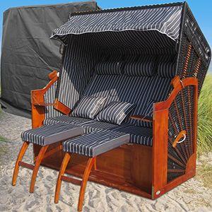 xxxl ostsee strandkorb anthrazit günstig kaufen inkl schutzhülle 2 bezüge grundbezug abnehm und waschbarer wechselbezug