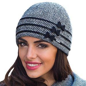 Angebote für -kamea felicia grobstrickmütze damen kopfbedeckung herbst winter gemustert setteil eu schwarzuni