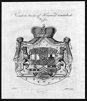 vermehrtes landgräfl hessen darmstädtische wappen hessen darmstadt wappen adel coat of arms heraldry heraldik kupferstich