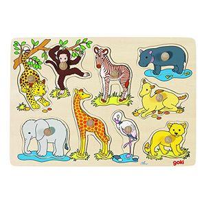 deals for - goki 57829 steckpuzzle afrikanische tierkinder 9 stück