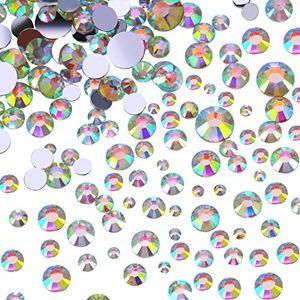 Angebote für -flatback strasssteine runde kristall flache rücken edelsteine 4 mix größen 800 stück