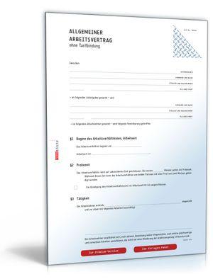 arbeitsvertrag muster kostenlos zum download download