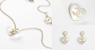 Chanel Logo耳環賣翻天!全新「愛心珍珠」系列,項鍊、耳環到胸針全都超可愛!