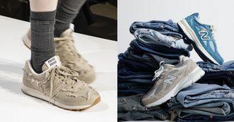 New Balance聯名Miu Miu 推球鞋登上2022春夏秀場!盤點5個NB夢幻聯名,Levi's、Casablanca…有錢也買不到