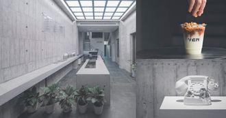 2021台中必去咖啡廳「YEN 円」!全清水模裝潢,破百萬藝術品作陪,村上隆、KAWS全都有!