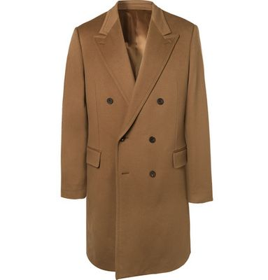 Kingsman - Double-breasted Cashmere And Wool-blend Overcoat - Brown
