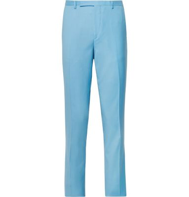 Paul Smith - Light-blue A Suit To Travel In Slim-fit Wool Suit Trousers - Light blue