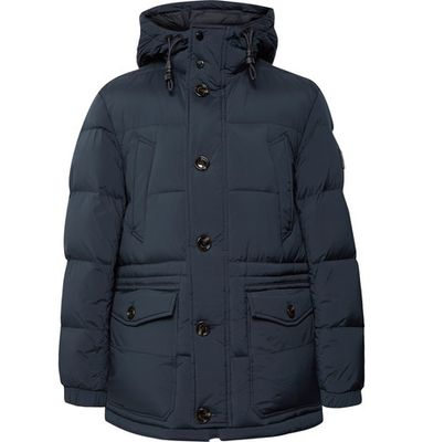 Hugo Boss - Delario Quilted Shell Hooded Down Jacket - Storm blue