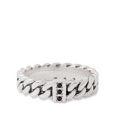 Tom Wood - Sterling Silver Spinel Ring - Silver