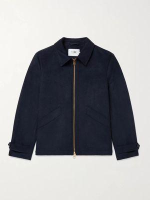 NN07 - Jeremy Brushed Wool-Blend Blouson Jacket - Men - Blue