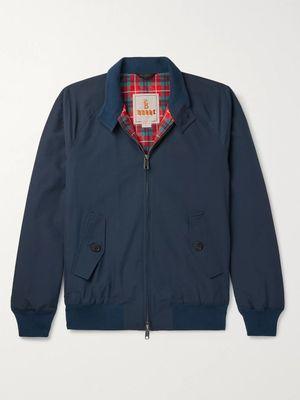 Baracuta - G9 Cotton-Blend Harrington Jacket - Men - Blue