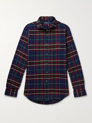 Polo Ralph Lauren - Checked Cotton-flannel Shirt - Blue