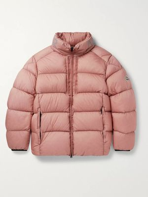Moncler - Cevenne Garment-Dyed Quilted Shell Down Jacket - Men - Pink