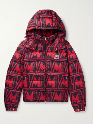Moncler - Frioland Slim-Fit Logo-Print Quilted Shell Down Hooded Jacket - Men - Red
