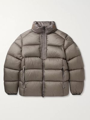 Moncler - Cevenne Garment-Dyed Quilted Shell Down Jacket - Men - Gray