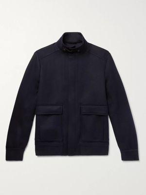 Loro Piana - Rain System Cashmere Bomber Jacket - Men - Blue