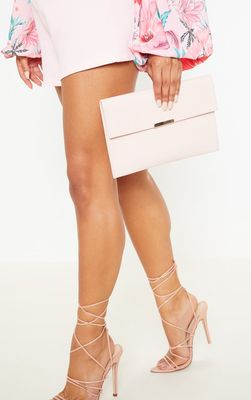 Light Pink Basic Clutch Bag
