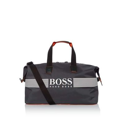 Hugo Boss Pixel Logo Nylon Holdall, Grey