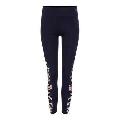 Ted Baker Harmony floral ruched sports leggings, Blue